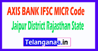AXIS BANK IFSC MICR Code Jaipur District Rajasthan State
