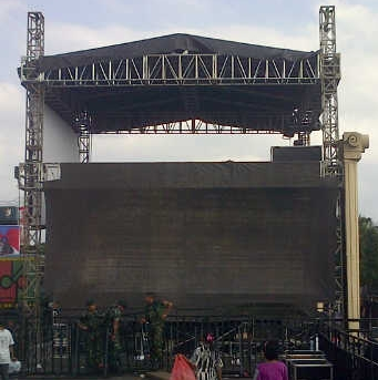dijual contoh rigging foh single double triple deck murah