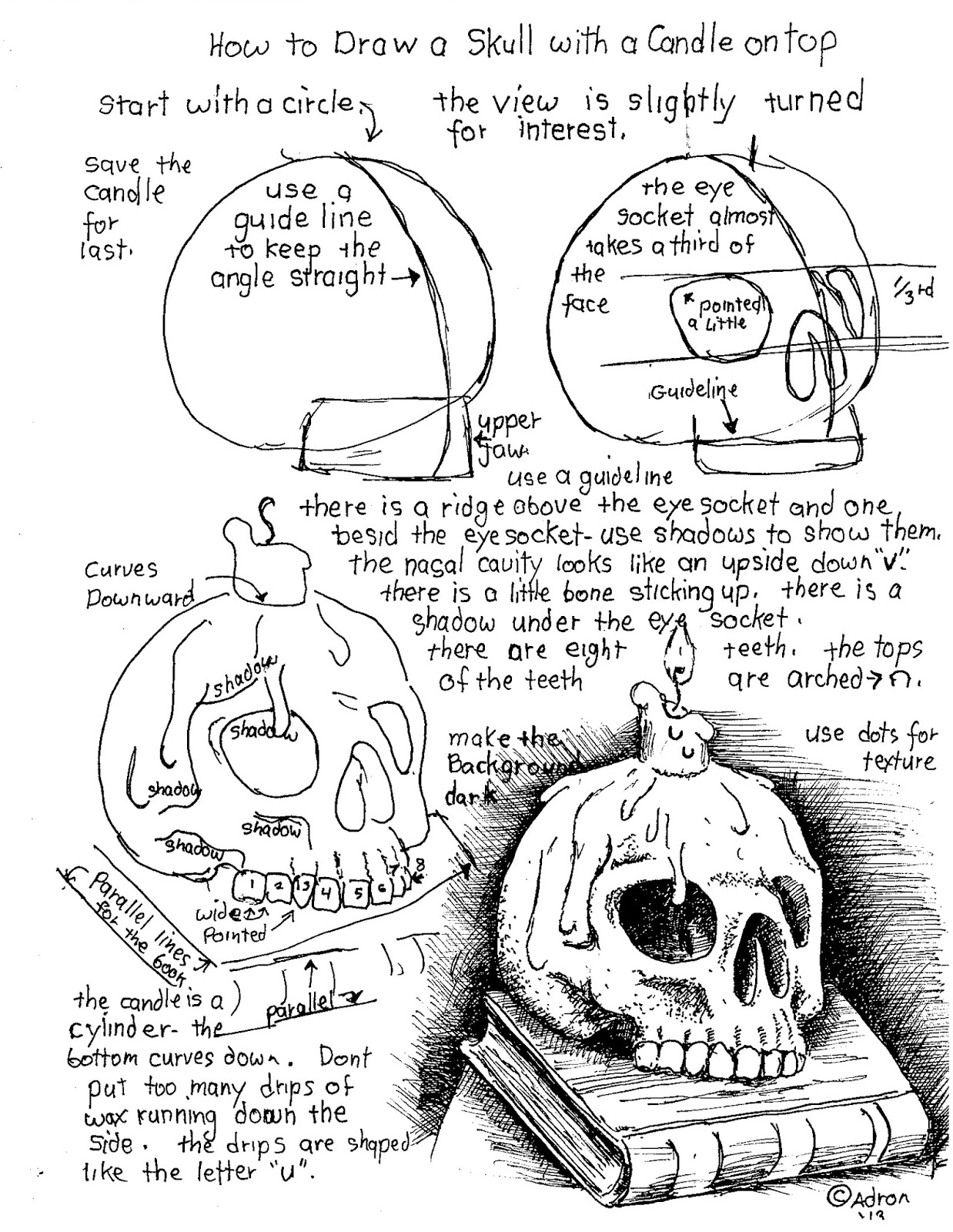 How to Draw Worksheets for The Young Artist Free How to Draw A – Skull Worksheet