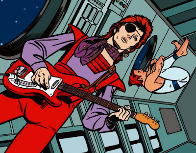"David Bowie en el cómic ""Red Rocket 7"" de Mike Allred"
