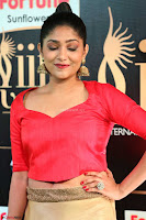 Samyukta Hamod in Red Crop top Brown Skirt at IIFA Utsavam Awards 010.JPG