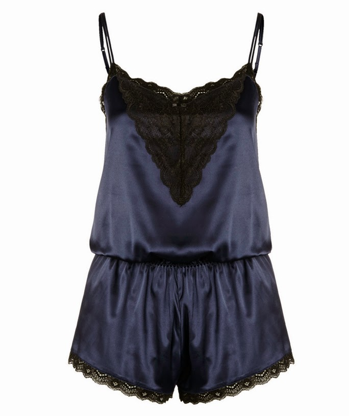 Florence + Fred navy blue Gwyneth lingerie