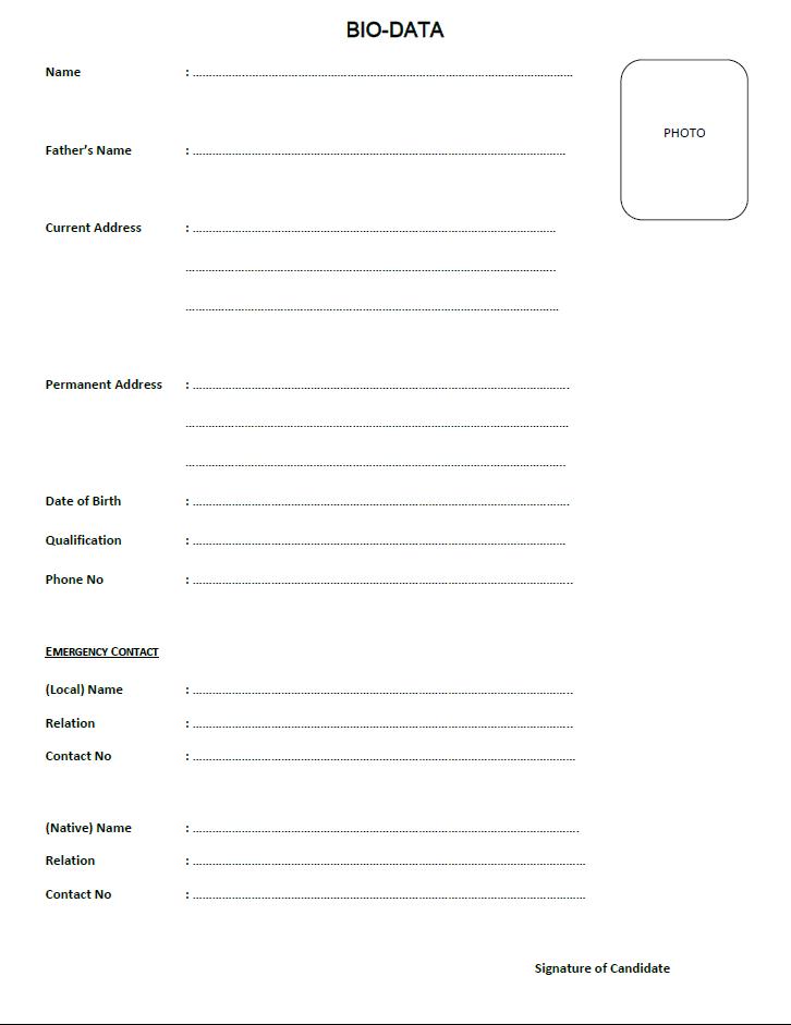 biodata sample in pdf simple biodata format scribd copyrighted biodata resume format and resume biodata pdf