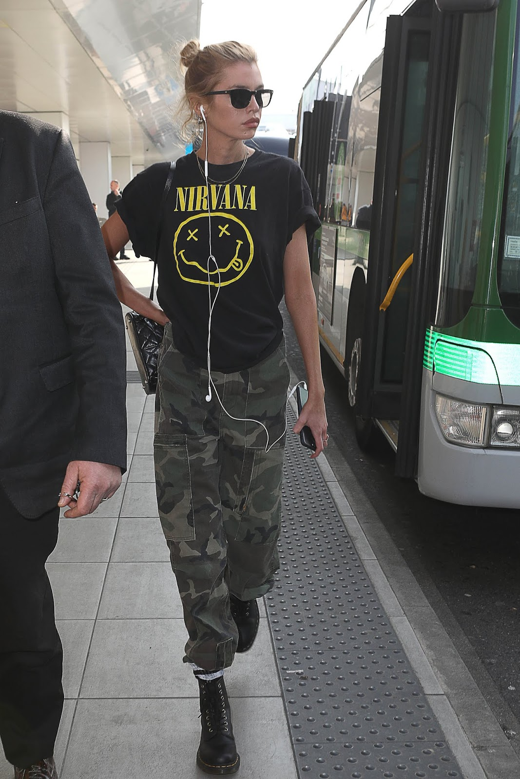 Stella Maxwell arrives at linate airport ahead of Milan fashion week - 02/20/2019