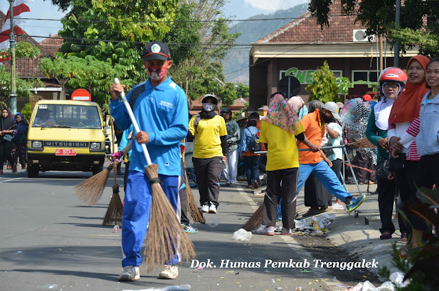 95 Personil PKP LH, Sukses Jaga Kebersihan Pasca Trenggalek Pop Culture Digelar