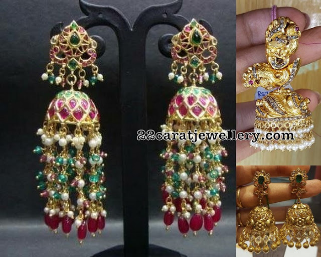 Heavy Jhumkas With Antique Work