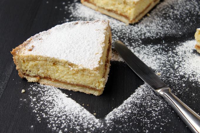 tarta ricota dulce de leche