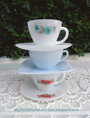 Friday's Find: A Trio of Teacups mythriftstoreaddiction.blogspot.com