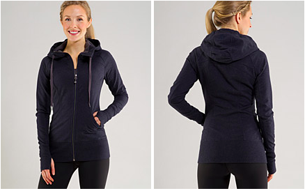 sing floss travel jacket coming in heathered deep navy
