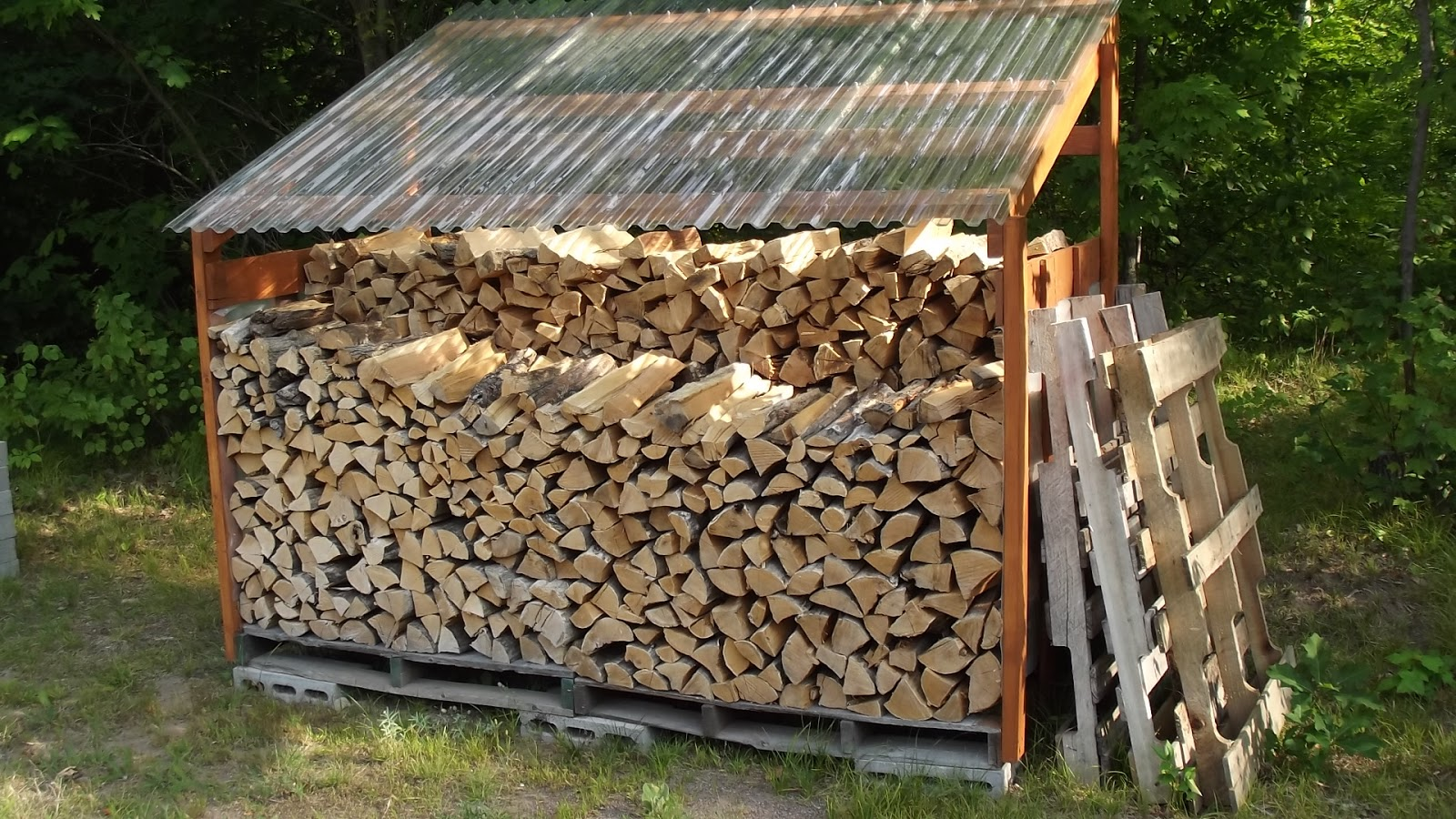 If I Pull Anymore Wood Out The Woods This Fall, Iu0027ll Have To Make Another  Rack To Hold It. Everything Outside Is Getting Full.