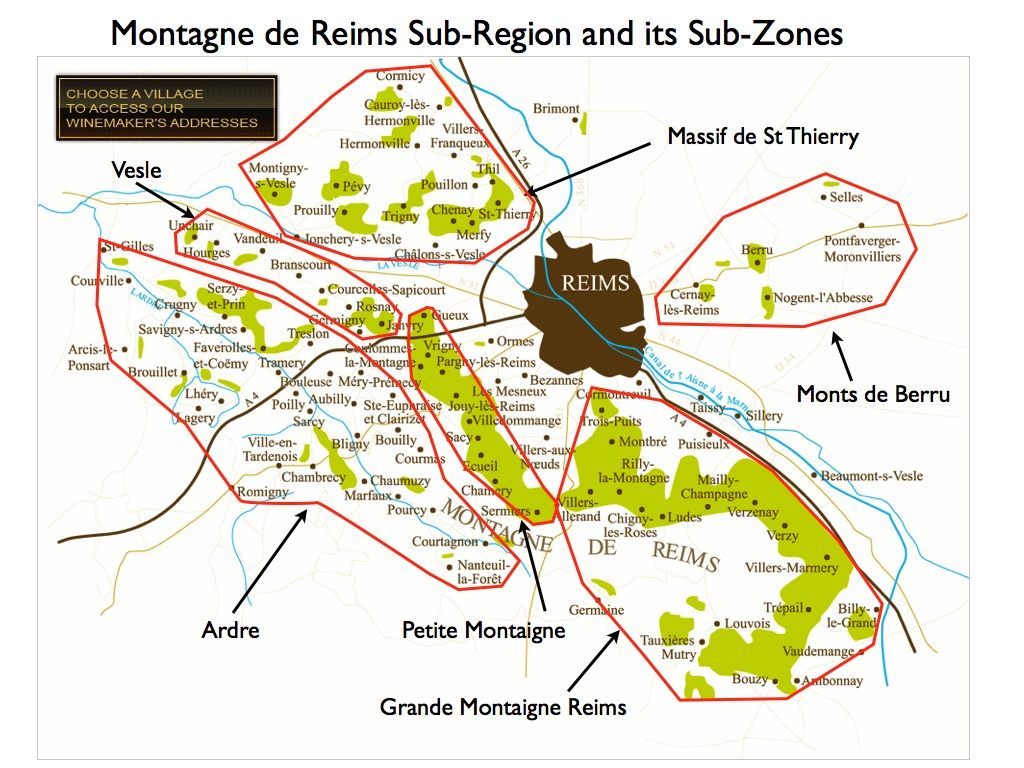 Wine -- Mise en abyme: Montagne de Reims and its Grand Cru vineyards ...