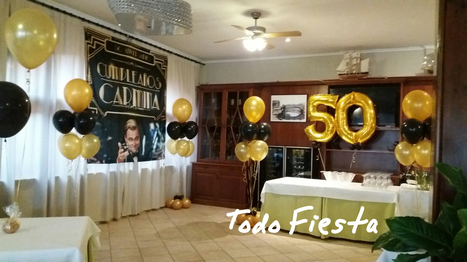 Decoraci n con globos de todo fiesta for Decoracion con globos 50 anos