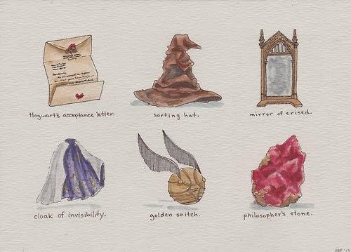 O Universo De Harry Potter Em Desenhos Simples E Incriveis