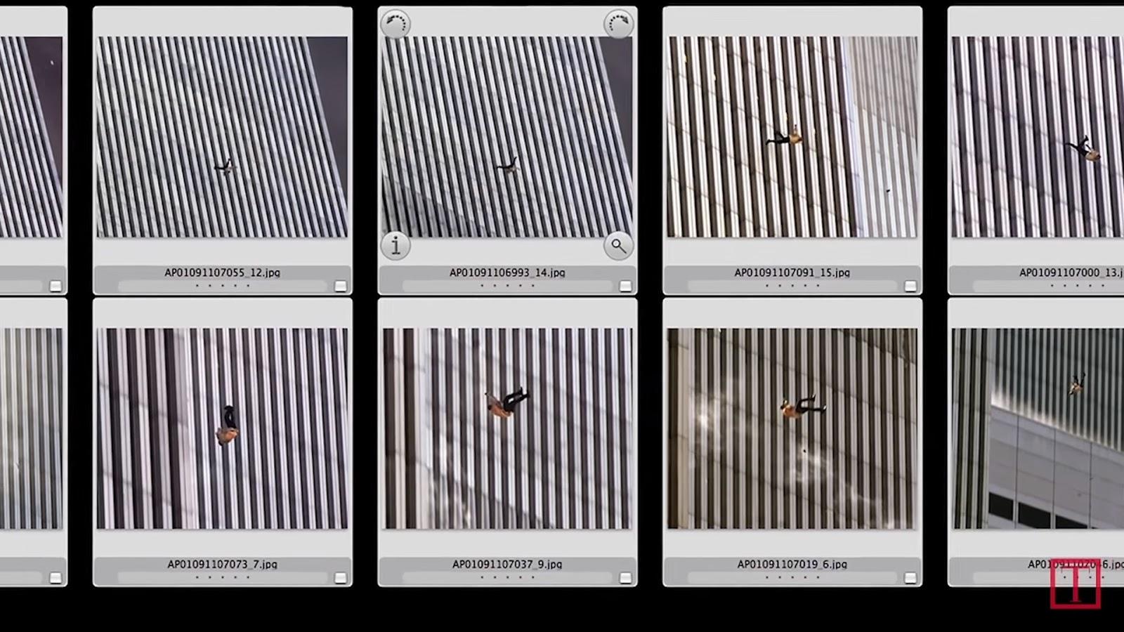A serie THe Falling Man tomada de ISO1200