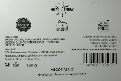 Hifas da Terra Mico-Soap ingredients