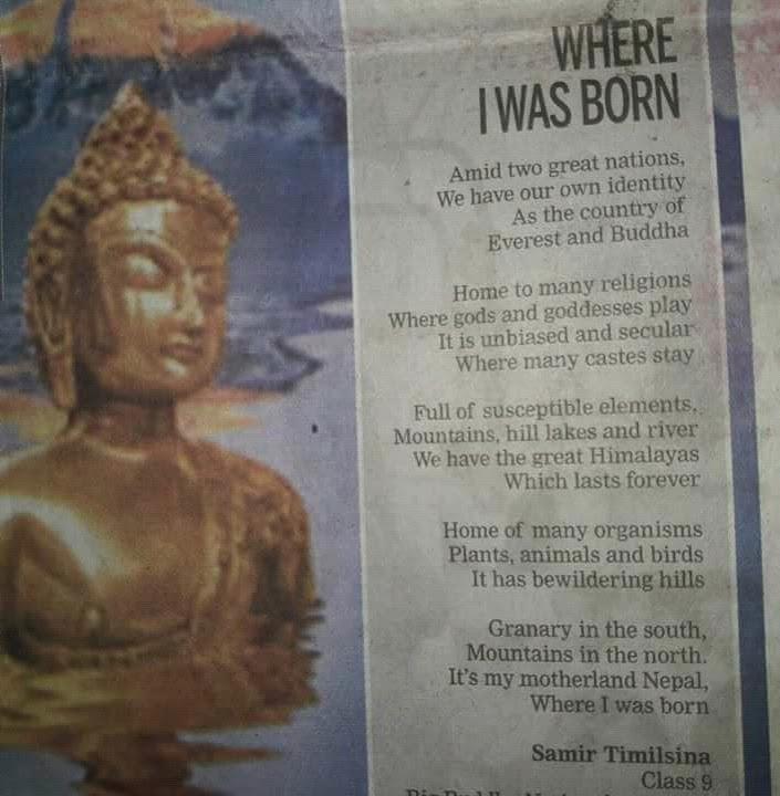 Poem: My Birthplace, Nepal - SAMIR (समिर)