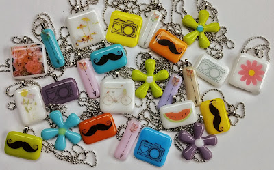 Sassy Glass Studio, fused glass pendants, Fusography, Super Sassy Sizzling Summer Sale