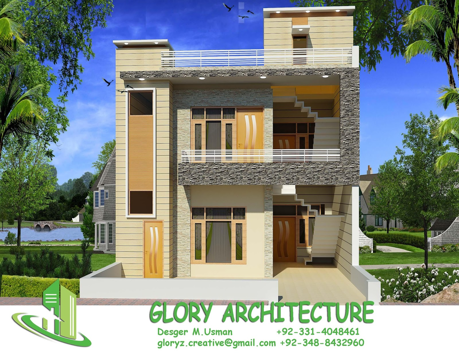 25x50 house elevation islamabad house elevation pakistan for 3d elevation house plan