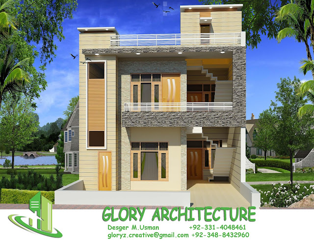 25x50 house elevation islamabad house elevation pakistan for 25x30 house plans