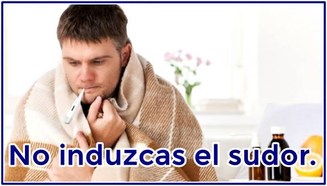 El sudor combate la fiebre y lo que la causa