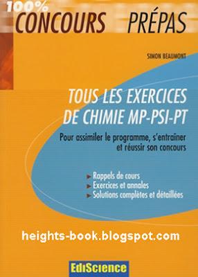 Télécharger Livre Gratuit Councours prépas Tous les exercices de chimie mp-psi-pt pdf