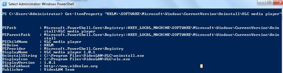 Powershell Script to Read Registry Value