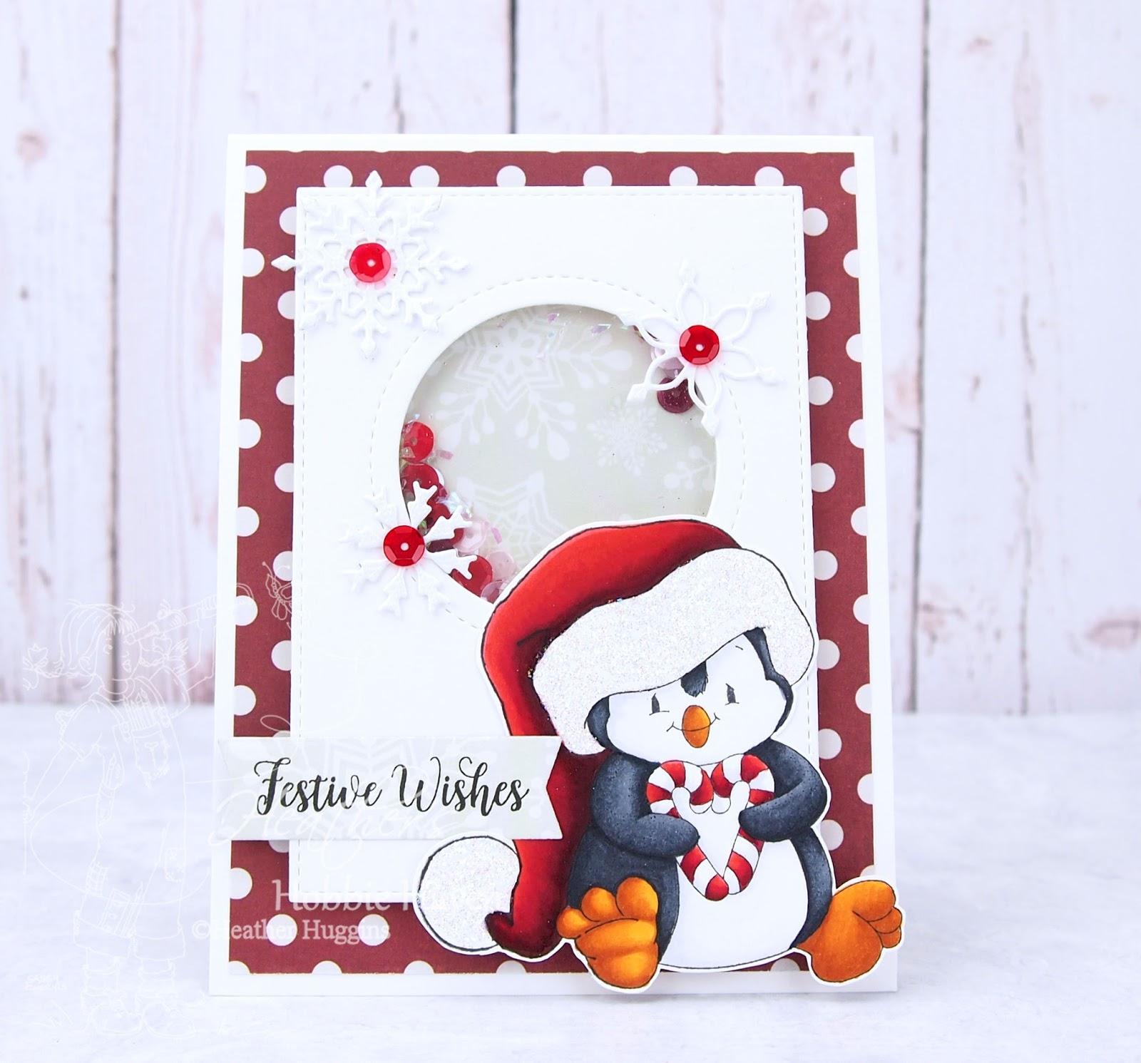 Heather\'s Hobbie Haven: Penguin Christmas Sweetheart Shaker Card Kit