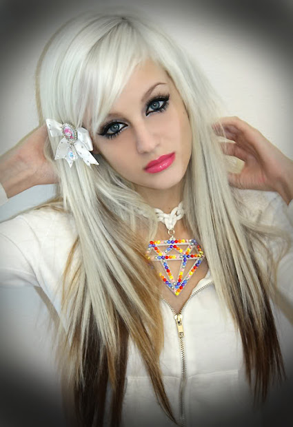 hair styles and makeup white scene