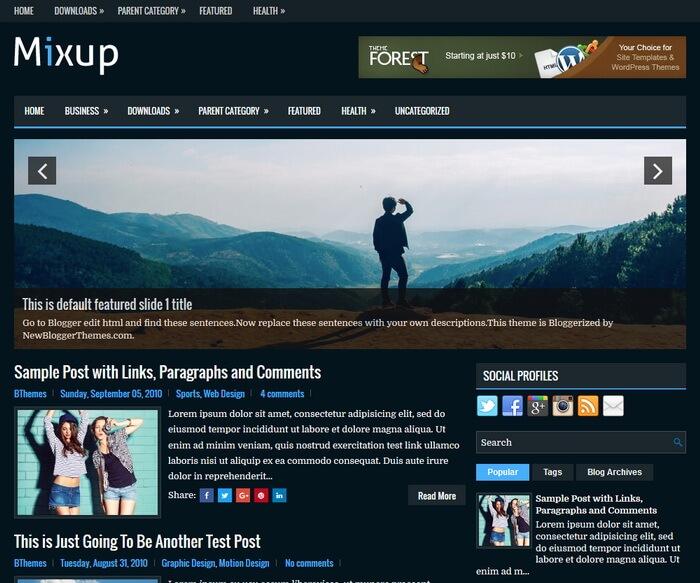 Mixup Blogger template