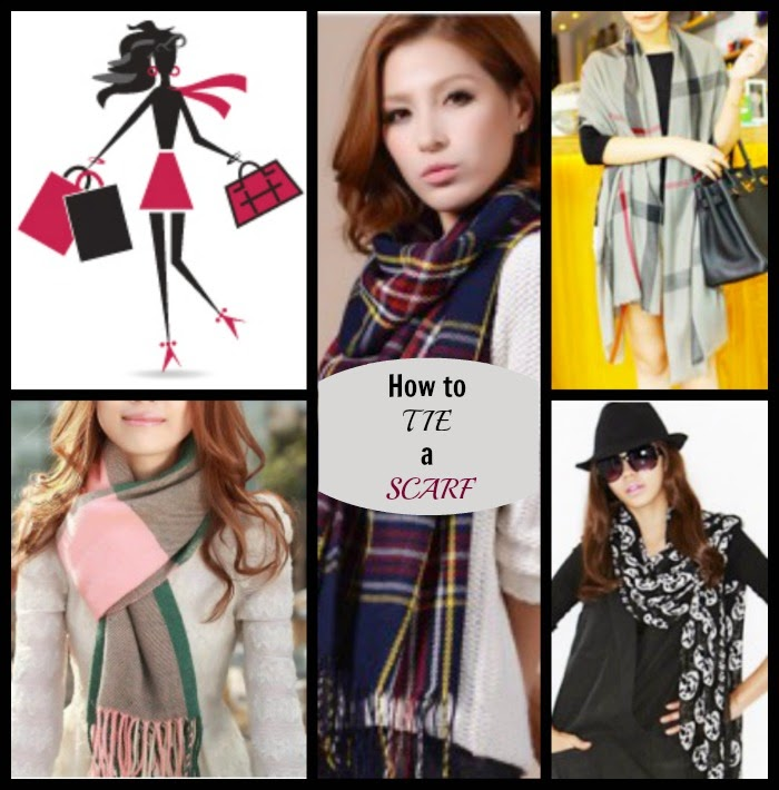 How to tie a scarf Diy Tutorial Video.