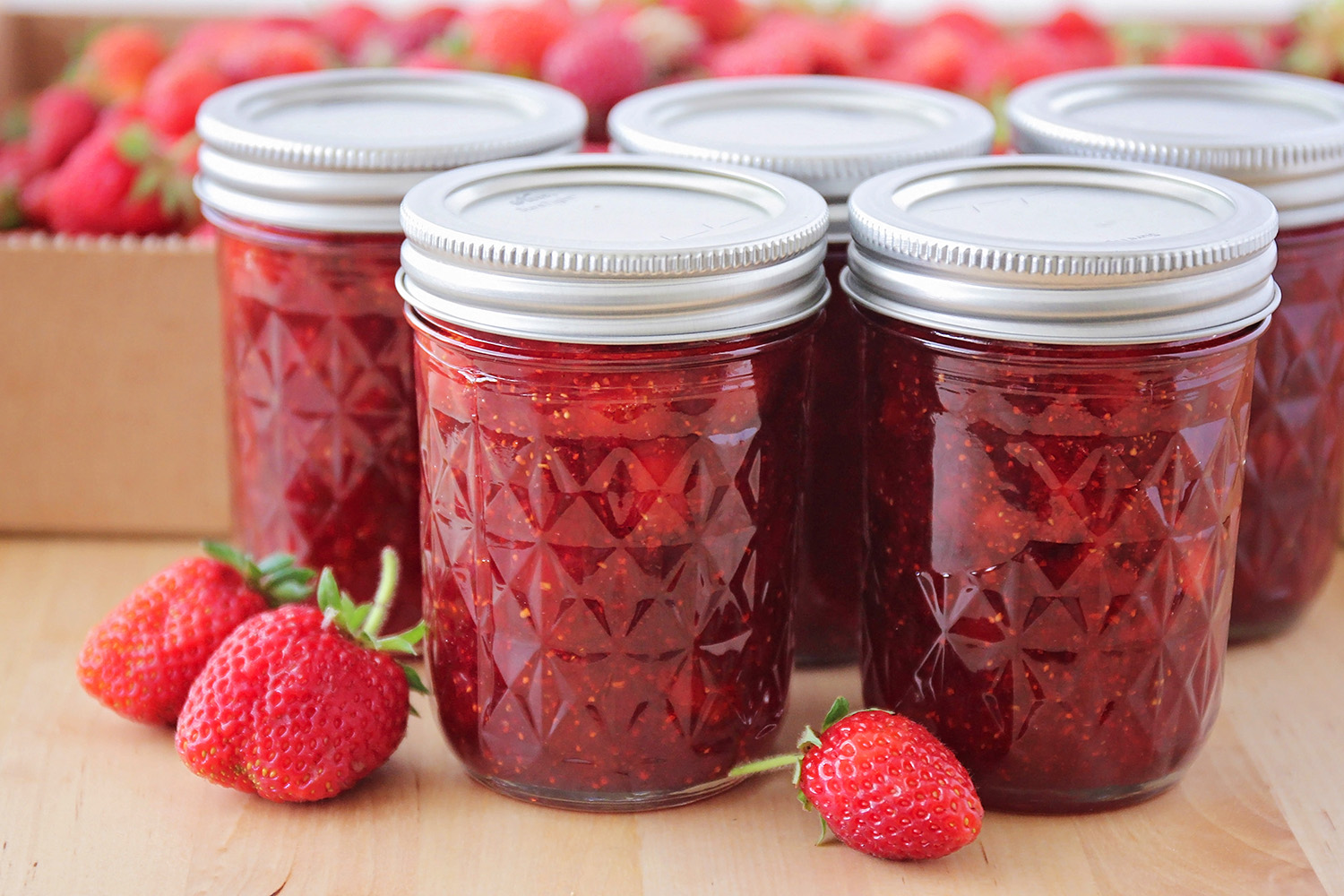 This simple and delicious homemade strawberry jam is so easy to make. It's the perfect way to enjoy those sweet summer berries!