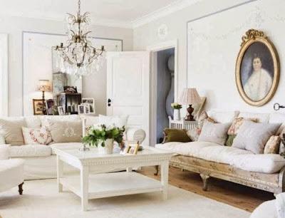 salón blanco clásico-moderno