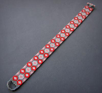 купить узкий браслет и бисера анна белоус анабель ручная работа