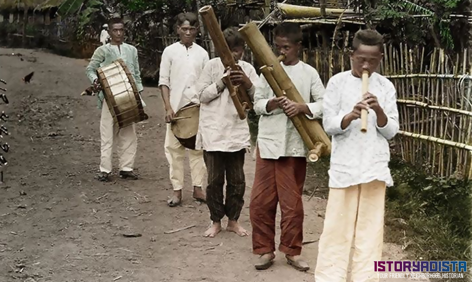 Bamboo band performing (c1900s)