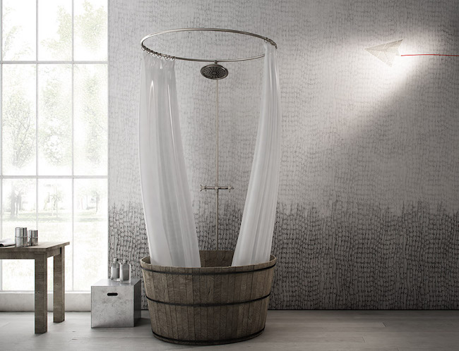 Tendenze arredo carta da parati in bagno si ma for Carta parati vinilica bagno