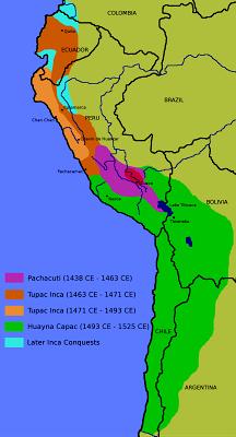 Imagen del Mapa de los cuatro Suyos o Tahuantinsuyo