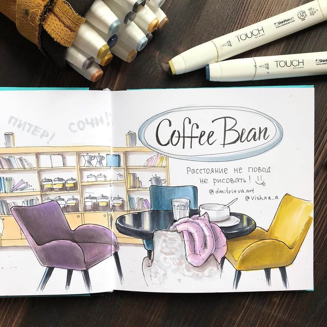 08-Coffee-Shop-Ekaterina-Suricat-Interior-Design-Colored-Sketches-www-designstack-co