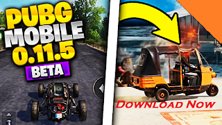 PUBG Mobile New Update 0.11.5 Beta Download | New Weapon, New Vehicle & More