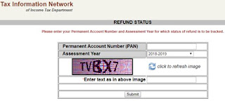 Tin-NSDL-Income-Tax-Refund-Status