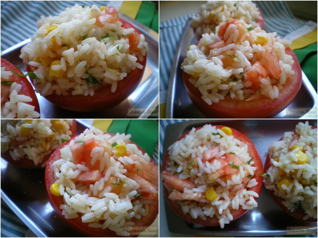 Rellenando los tomates