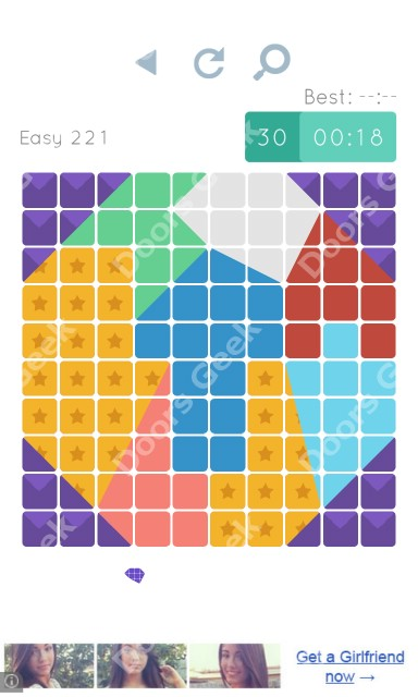 Cheats, Walkthrough for Blocks and Shapes Level 221