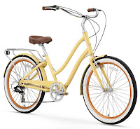 Sixthreezero EVRYjourney Women's Touring Hybrid Cruiser Bicycle, cream