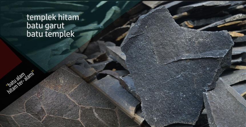 batu alam hitam templek garut