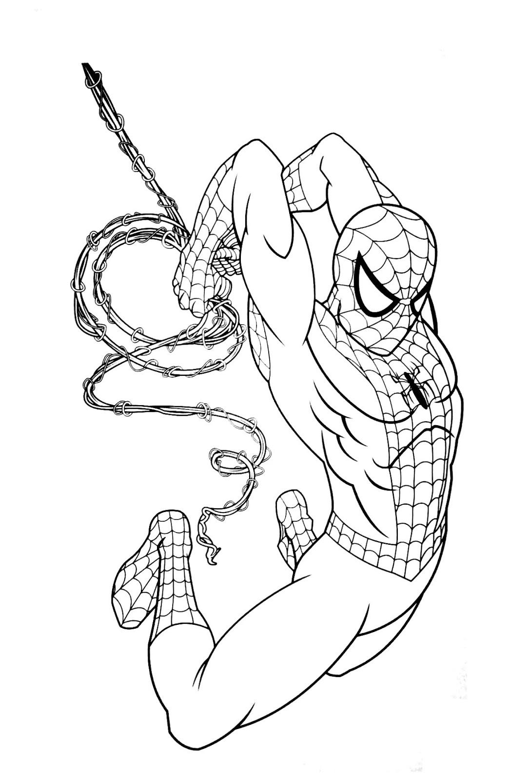 Tranh tô màu người nhện 03