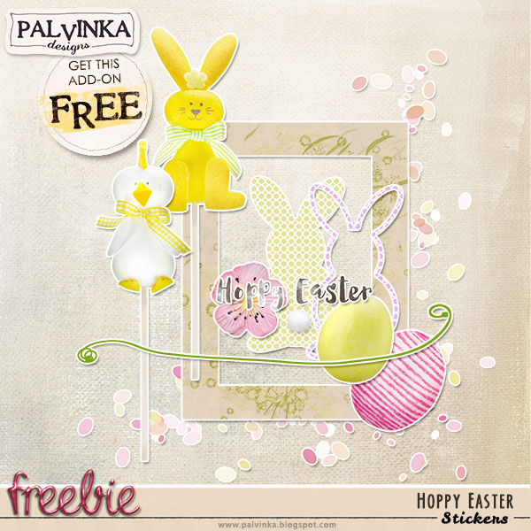 Hoppy Easter in shops and Freebie