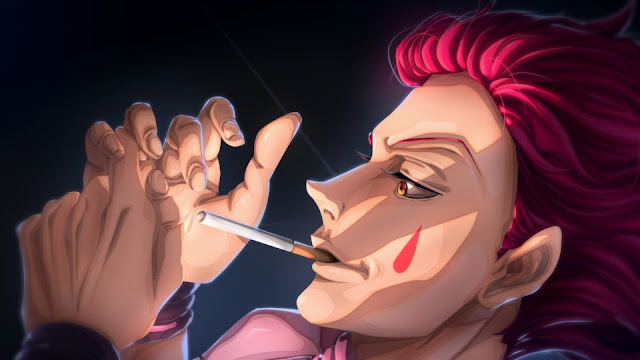 wallpaper hunter x hunter hisoka smoke