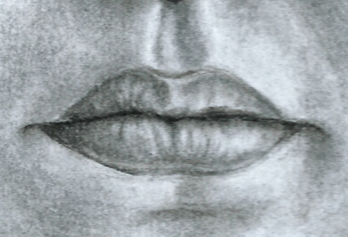 How To Draw Lips Charcoal
