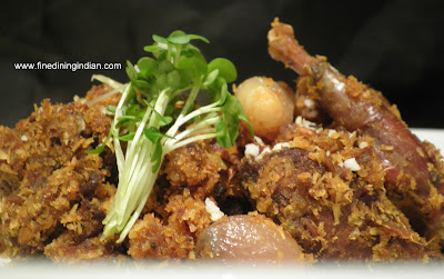 finedining indian picture of wood pigeon recipe