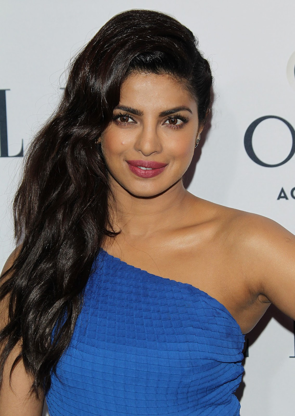 Priyanka Chopra Stills In Blue Long Dress