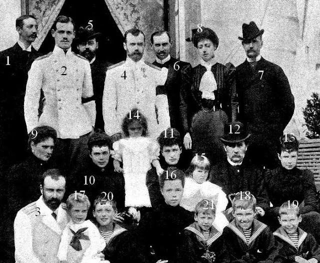 Membres des familles royales de Grèce, Danemark, Angleterre et de la famille impériale russe chez Valdemar de Danemark